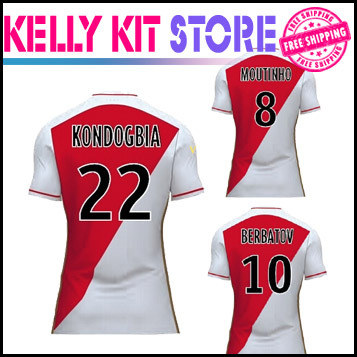 on sale 1a234 37a44 US $17.0 | AS Monaco 2015/16 Home Players soccer jersey 15 16 MOUTINHO  TOULALAN BERBATOV james rodriguez home jeresy 2016 Football shirts-in  Soccer ...
