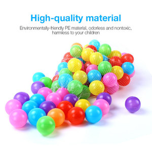 Image 5 - 100pcs/lot Ocean Ball Eco Friendly Colorful Ball Soft Plastic Funny Baby Kid Swim Pit Toy Water Pool Ocean Wave Ball Outdoor Fun