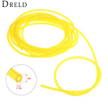DRELD 5M Length Gas Engine Machine Oil Pipe Fuel Hose Diameter 2.5mm*5mm For Trimmer Chainsaw Garden Tool Parts