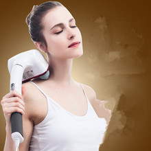 2 heads Home massage stick vibration massager fitness massage hammer health care infrared heating body back massager new professional dual head health care electric massage hammer full body massager