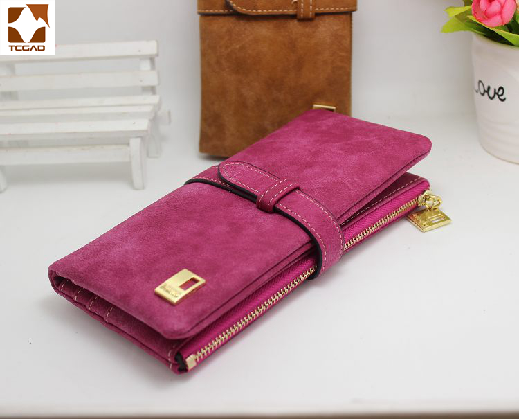 Woman wallet Long Fashion Luxury Brand frosted Leather purse Female Coin Purse Wallet Women Card Holder Wristlet Money Bag плащ only only on380ewdlxg0