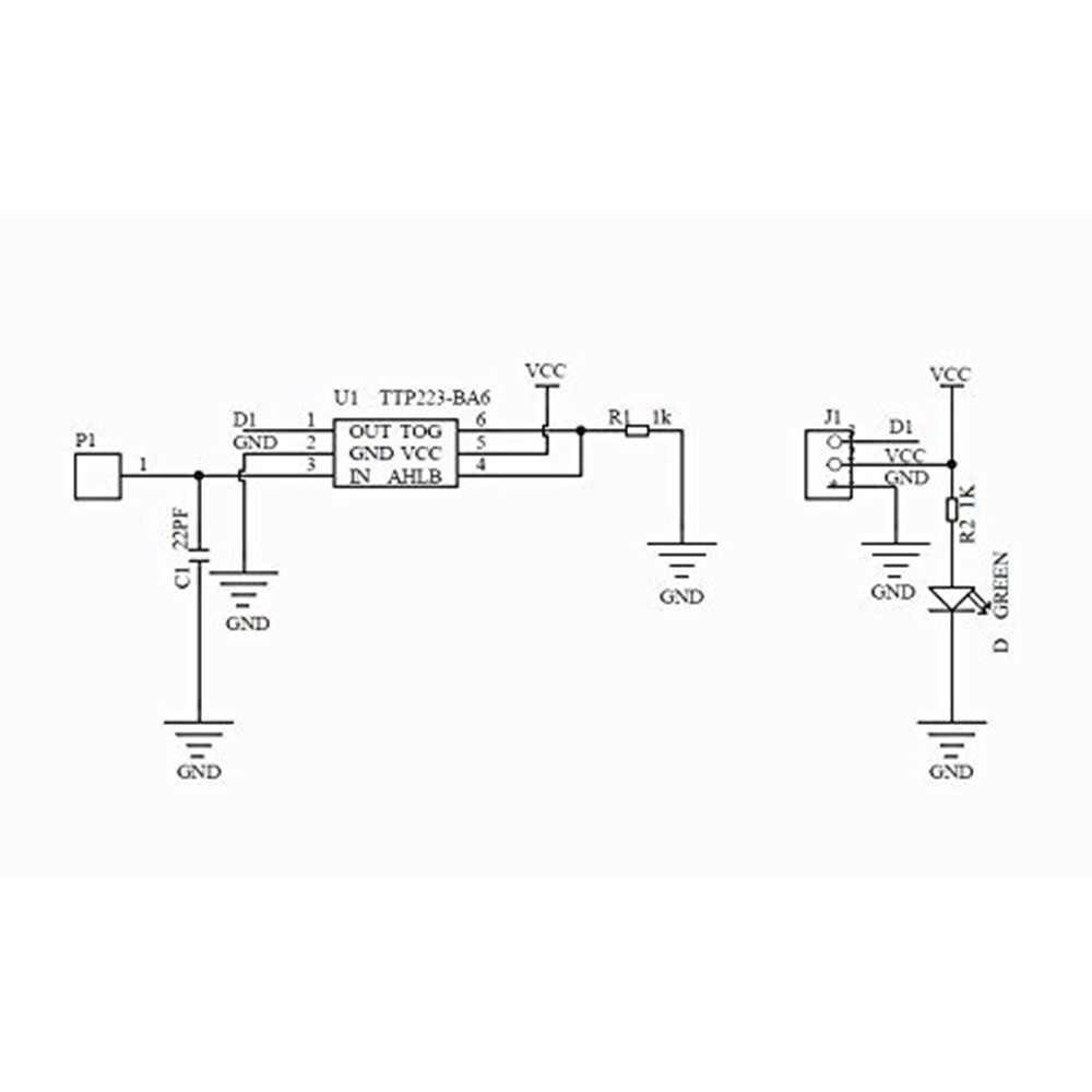 TTP223 Module de commutation tactile TTP223B bouton de capteur tactile capacitif numérique 1 canal Jog pour kit de bricolage arduino