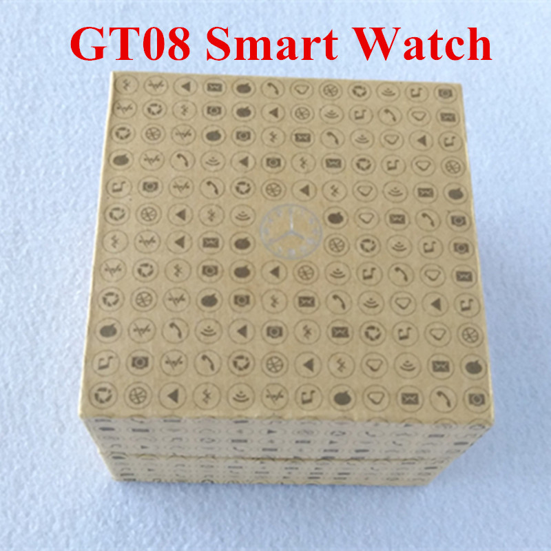 Smart Wrist Watches GT08 MTK font b SmartWatch b font Clock Sync Notifier Support SIM Card