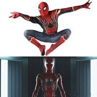 Spiderman Avengers:Infinity War Spider Man Cosplay Tights Spider Man Costume Spandex Jumpsuit Lycra Full Body Bodysuit Halloween