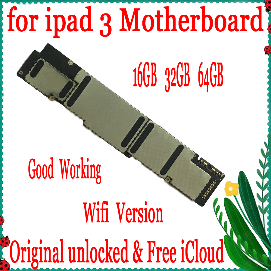 16GB / 32GB / 64GB Wifi Version for ipad 3 Motherboard,Original unlocked for ipad 3 Mainboard with Full Chips16GB / 32GB / 64GB Wifi Version for ipad 3 Motherboard,Original unlocked for ipad 3 Mainboard with Full Chips