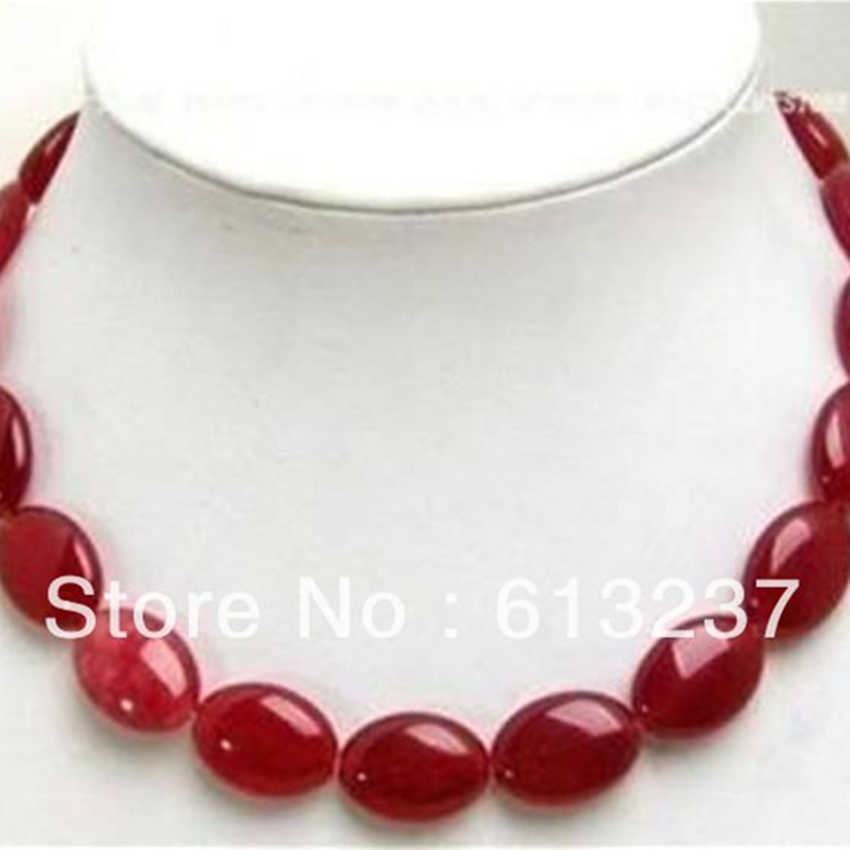 Charms red natural stone flat oval chalcedony jades stone 13x18mm gems beads diy high quality woman jewelry making 15inch MY4327