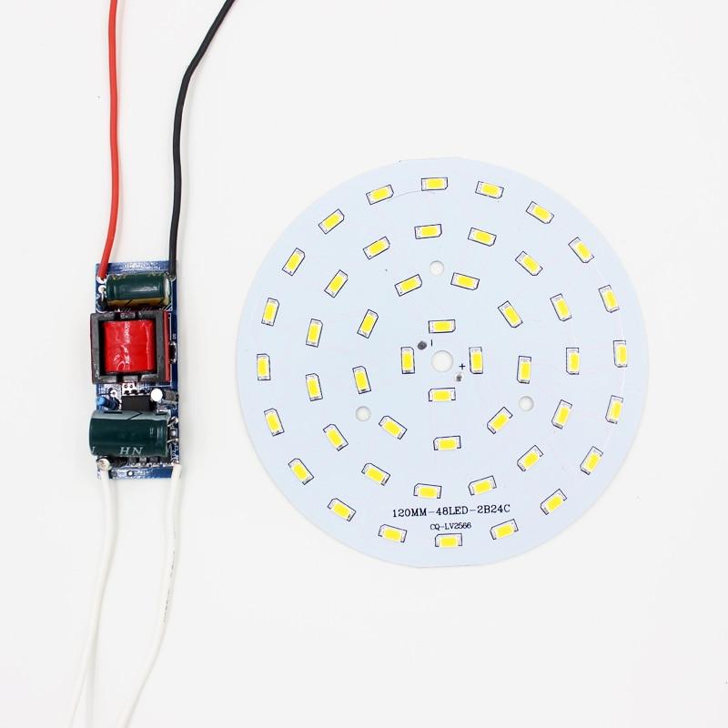 24W  5730 SMD Light Board Led Lamp Panel For Ceiling + AC 100-240V LED power supply driver 100w driver for high power led 100 watt led light lamp ac 85v 265v