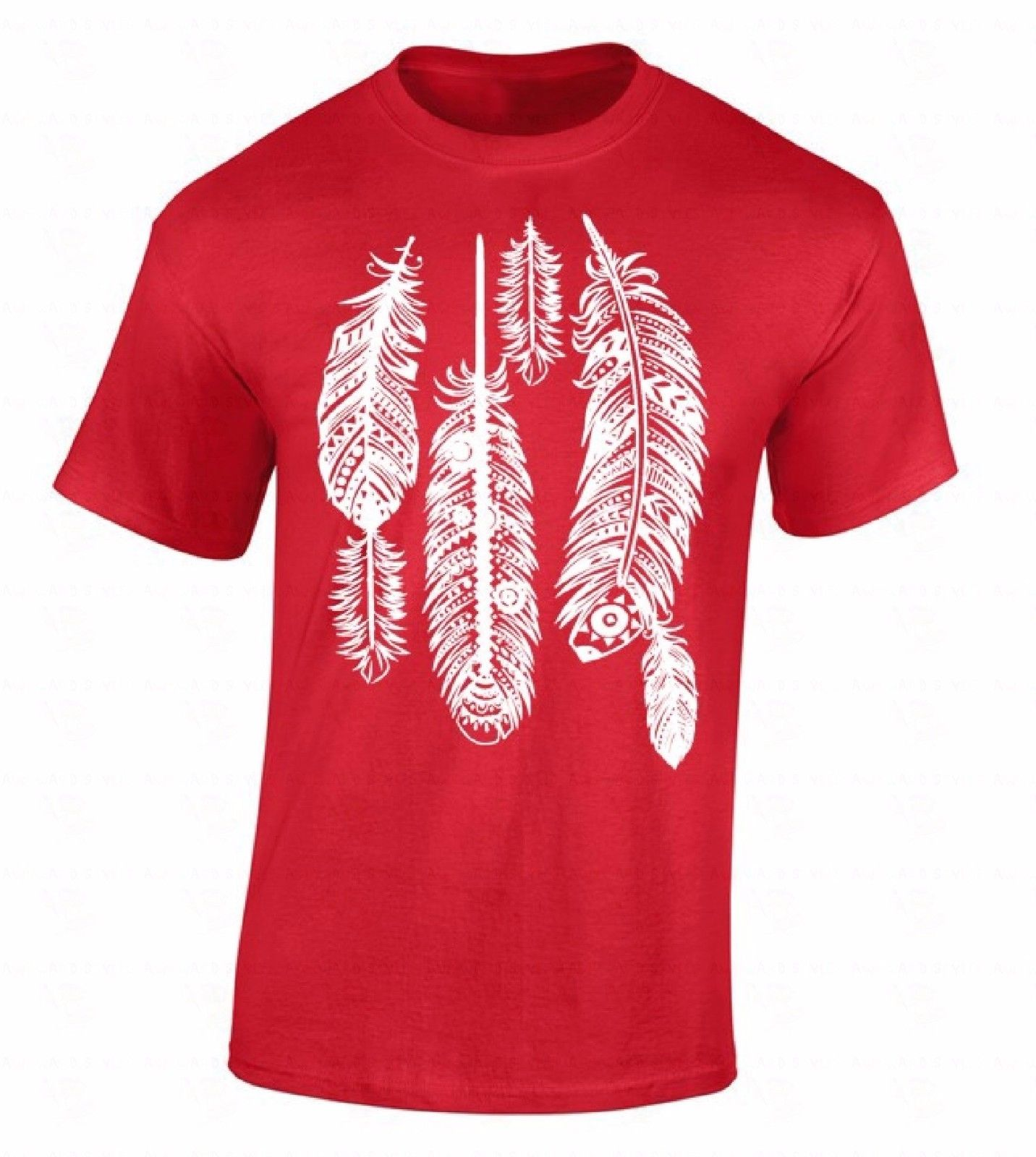 Feathers T-SHIRT Native American Spirit Indian Tribal Southwest Ethnic Shirt Fashion Print T shirt Plus Size