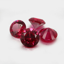 5A Quality 1.0mm 1.5mm 2.0mm 3.0mm (1~3mm) Round Brilliant Cut 5# 8# 3# Synthetic Corundum Red Stone Gems For Jewelry