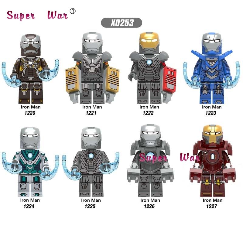 50pcs Avengers Endgame Iron Man IronMan Tony Stark Mark24 Mark25 Mark29 Mark30 Mark31 Mark32 building block