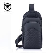 BULLCAPTAIN  Capacity Leather Crossbody Bags Men chest bag Brand cowhide Shoulder Bags Male casual messenger bag 3 color все цены