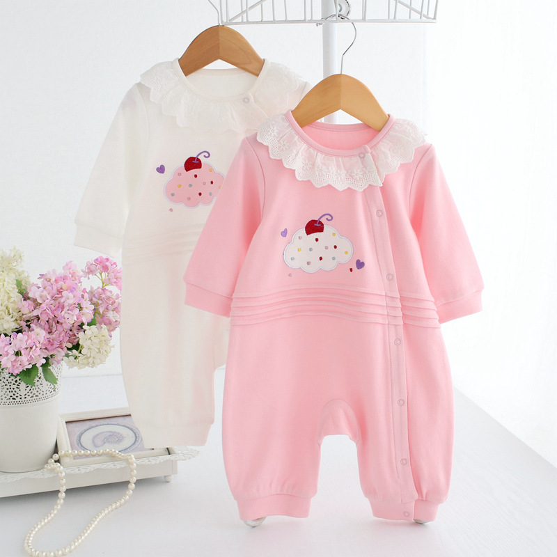 Spring Autumn Newborn Rompers Baby Girl Jumpsuit Lace Romper Infant Clothing Princess Pajamas Baby Clothes Menina Roupas newborn baby rompers baby clothing 100% cotton infant jumpsuit ropa bebe long sleeve girl boys rompers costumes baby romper