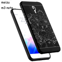 Brand New For Meizu M3 Note Phone Case Silicon High Quality 3D Carved Dragon Protector Shell