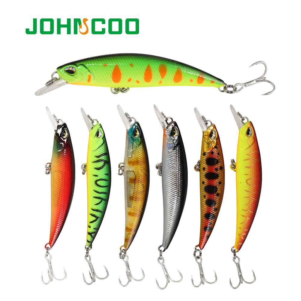 JOHNCOO Jerkbait Minnow 80mm 10g Fishing lure Wobbler for Sinking and Vibrate Fishing Tackle Swimming bait Lure
