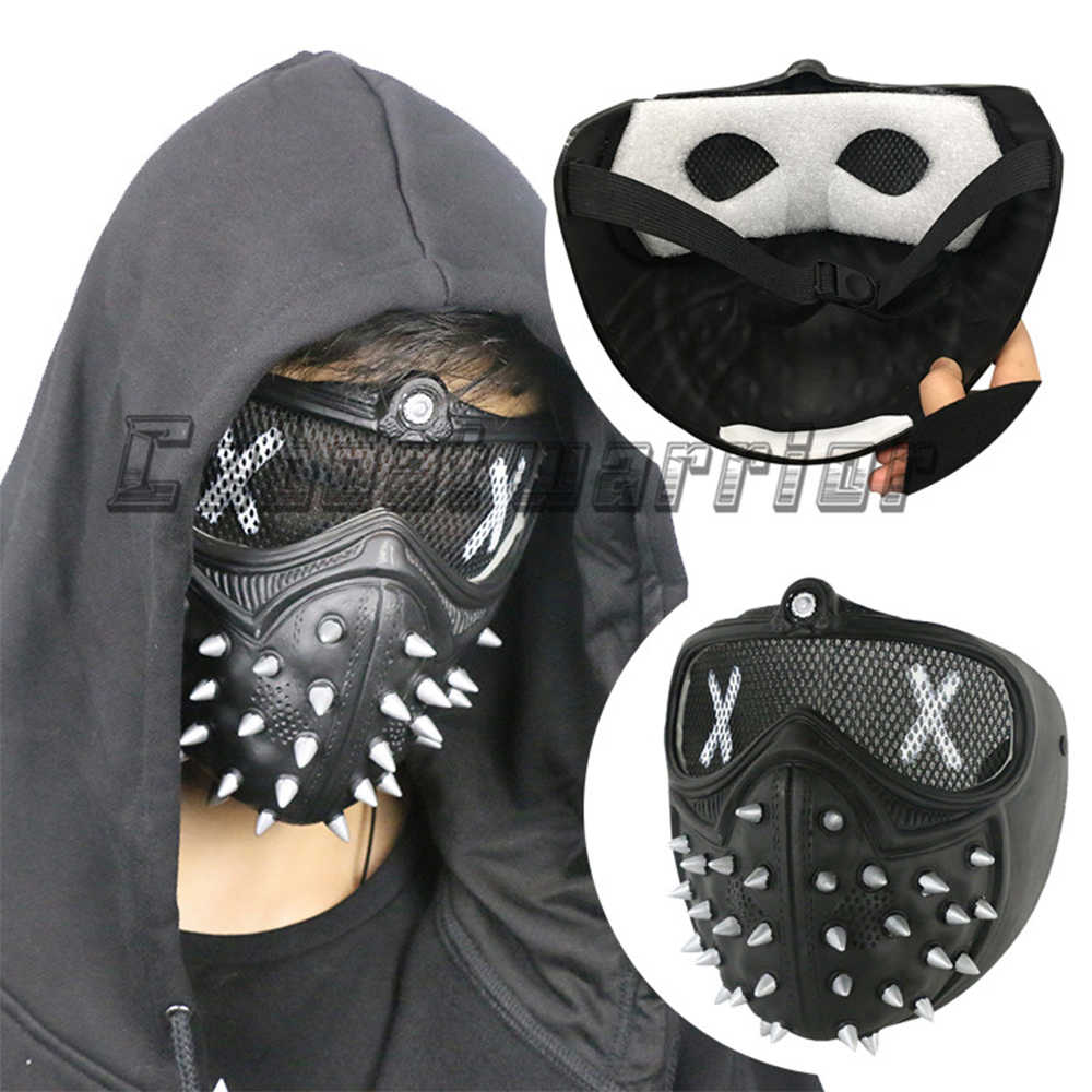 Baru Anjing 2 Cosplay Masker Marcus Holloway Masker Nyaman Keren Halloween Partai Prop
