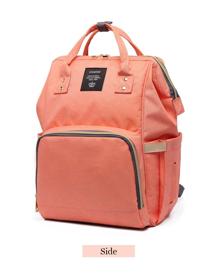 HTB1BQCXbvvsK1Rjy0Fiq6zwtXXaN Drop Shipping Lequeen Nursing Care Baby Bag Stripe Diaper Bag Nappy Bag Organizer Waterproof Maternity Bag