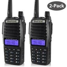 De baofeng uv 82 walkie talkie 136 174MHZ y 400 520MHZ (TX/RX) dual PTT FM jamón dos vías transceptor de Radio walkie talkie