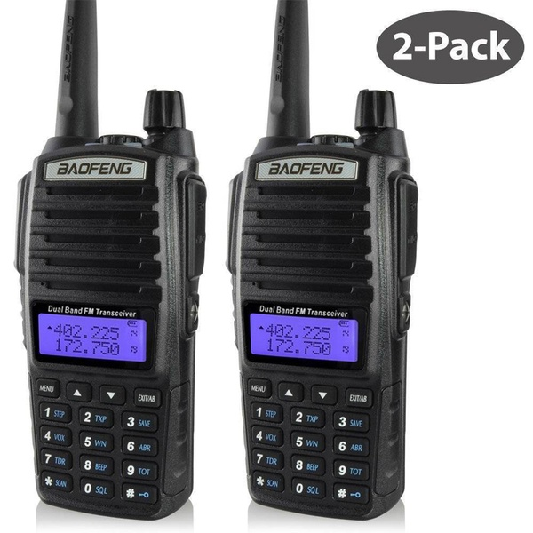 baofeng uv 82 walkie talkie 136 174MHZ and 400 520MHZ (TX/RX) dual PTT  FM Ham Two way Radio Transceiver, walkie talkie-in Walkie Talkie from Cellphones & Telecommunications