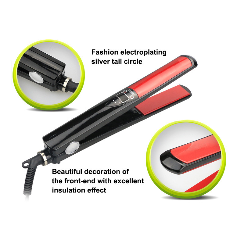 2017 New Electric Hair Straightener Digital display LCD Hair Straight Automatic Hair Straightening Iron Beauty Hair Styling Tool 1pcs 2017 new massage ultra thin led digital display lcd straightener electric splint mch fever