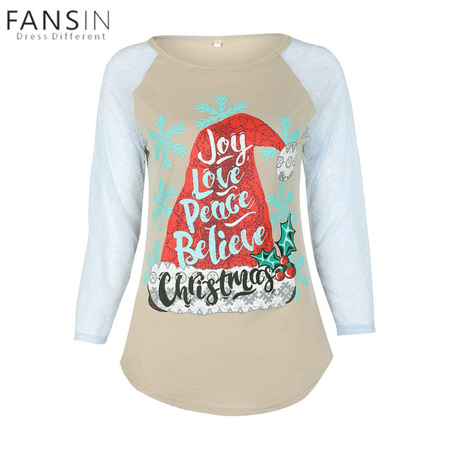fansin brand mother daughter christmas t shirt family look matching cotton lace long sleeve kids women