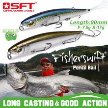 Luxury Series Brand SFT Fishing Lures 90mm 7.5g/17g Hard Pencil Lures With Nice Box Wobbler Fishing Lure Pesca leurre(China)