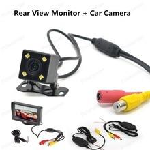 В тире 4.3 дюймов TFT ЖК-дисплей Цвет Дисплей заднего вида монитор с ночного видения заднего вида автомобиля Камера для парковки задним ходом