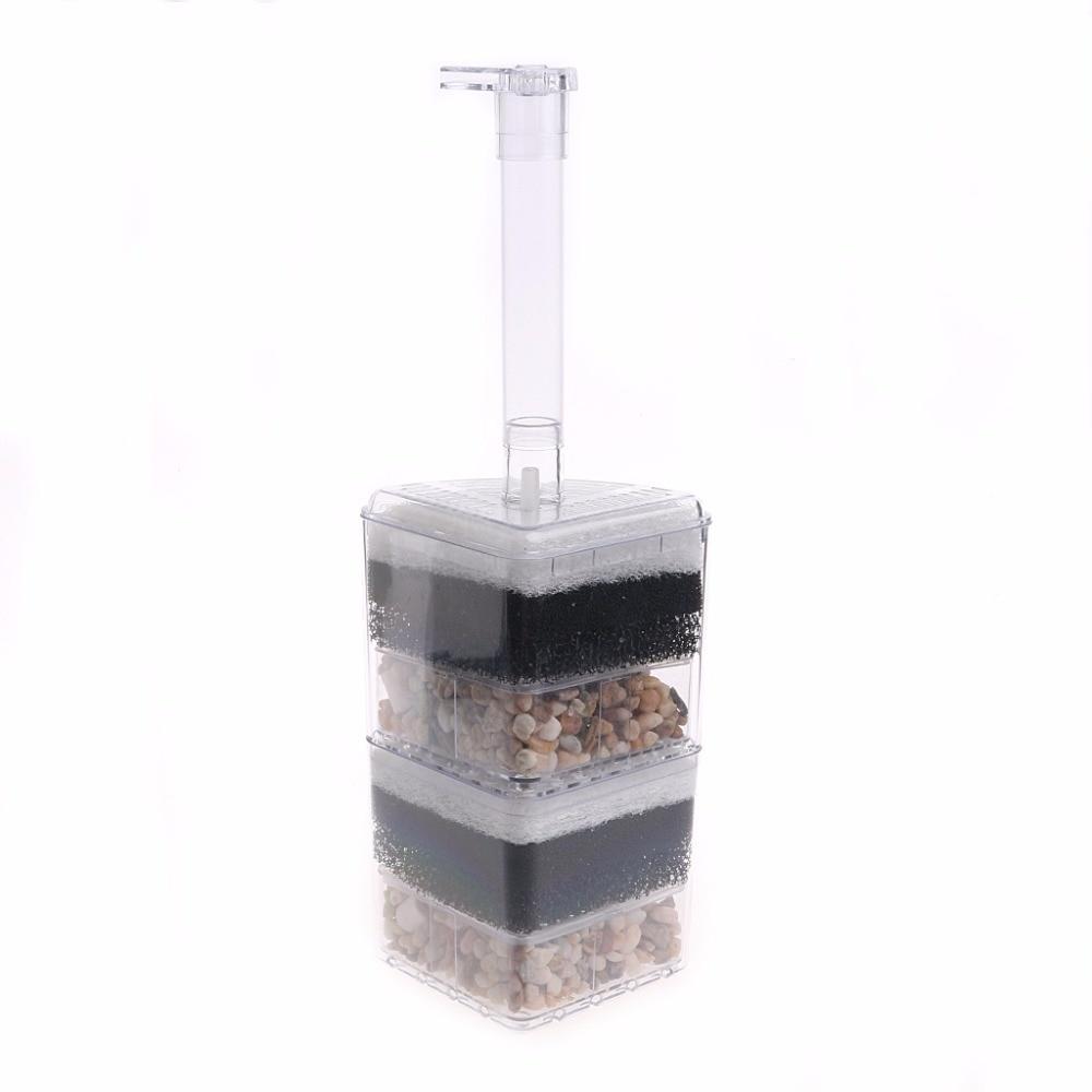Useful Air Driven Biochemical Corner Filter Sponge Fry Shrimp Fish tank Aquarium Aquario Accessory