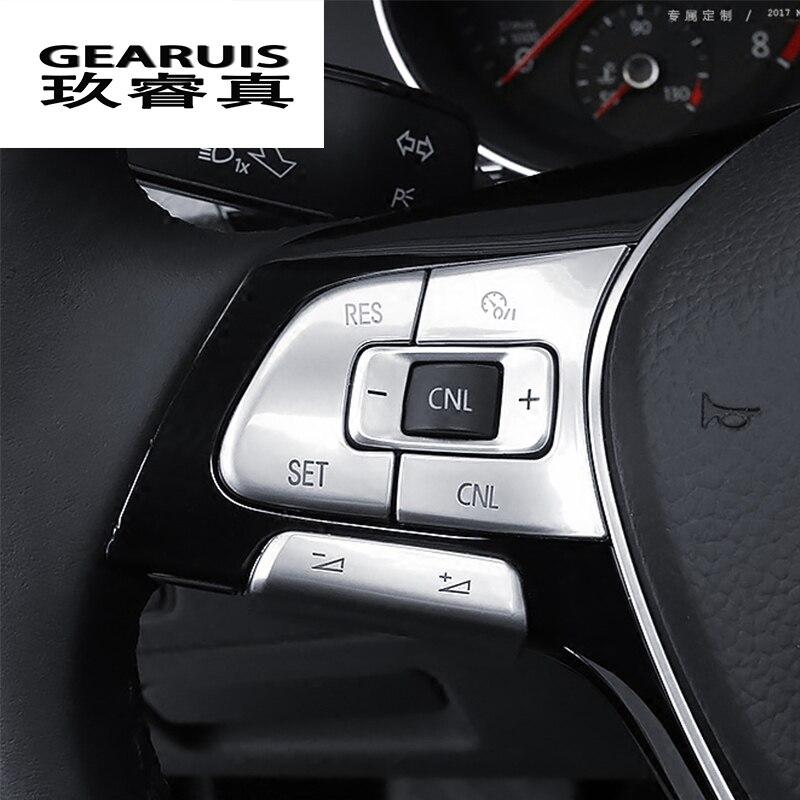 Auto Styling Lenkrad Taste Knob Trim Abdeckungen Aufkleber Für Volkswagen Vw Passat B7 B8 Jetta Tiguan Cc Golf Mk7 Zubehör