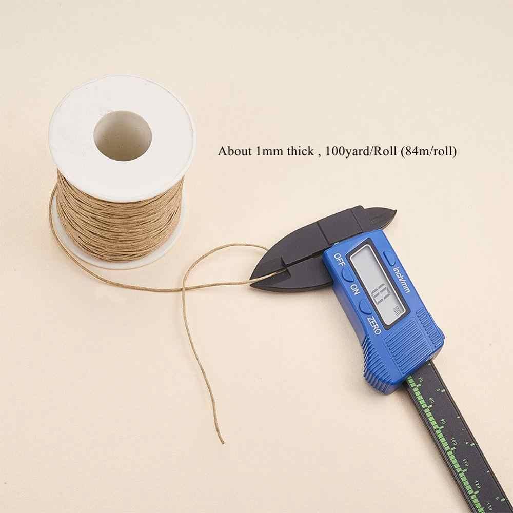 1 Mm 84 M/Cuộn Sáp Dây Trang Sức Phát Hiện DIY Làm Vải Vòng Tay Vòng Cổ Áo Ren Beadwork Phát Hiện Phụ Kiện chất Liệu
