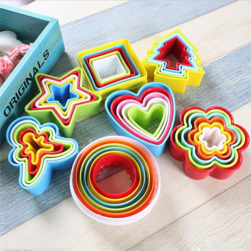 Biscuit Cutter Stars//Heart//Flower Shape Fondant Christmas Tree Cookie Cutter