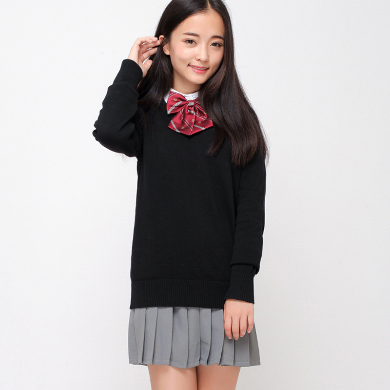 Hot Japanese/Korean Sailor Suit Sweaters Cosplay Cute Girls Boys Jk School Uniforms Full V collar Student Unisex Top Clothing