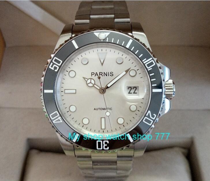 PARNIS 40mm Japanese automatic machinery movement men's watch rotateing Ceramic bezel Sapphire mirror 276