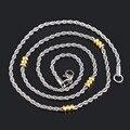 Moda 2.2mm * 50/55/60 cm aço inoxidável 316L cadeias colar cordão de prata do ouro do vintage banhado colares de jóias para as mulheres IR078