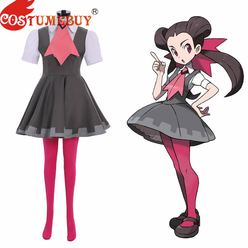 Costumebuy Pokemon Omega Ruby And Alpha Sapphire Roxanne Cosplay Costume Full Outfits Halloween Party Custom Made image