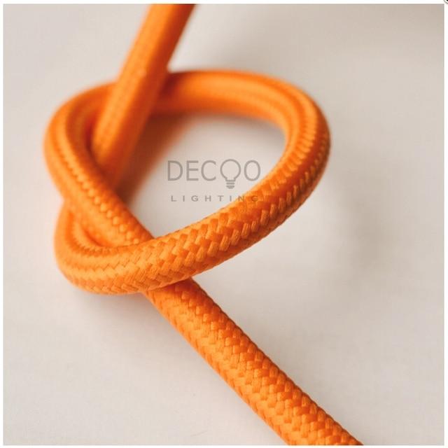 2 Core Orange Braided Lighting Flex Cable Cord Vintage Textile L& Cord Fabric Lighting Flex  sc 1 st  AliExpress.com & 2 Core Orange Braided Lighting Flex Cable Cord Vintage Textile Lamp ...