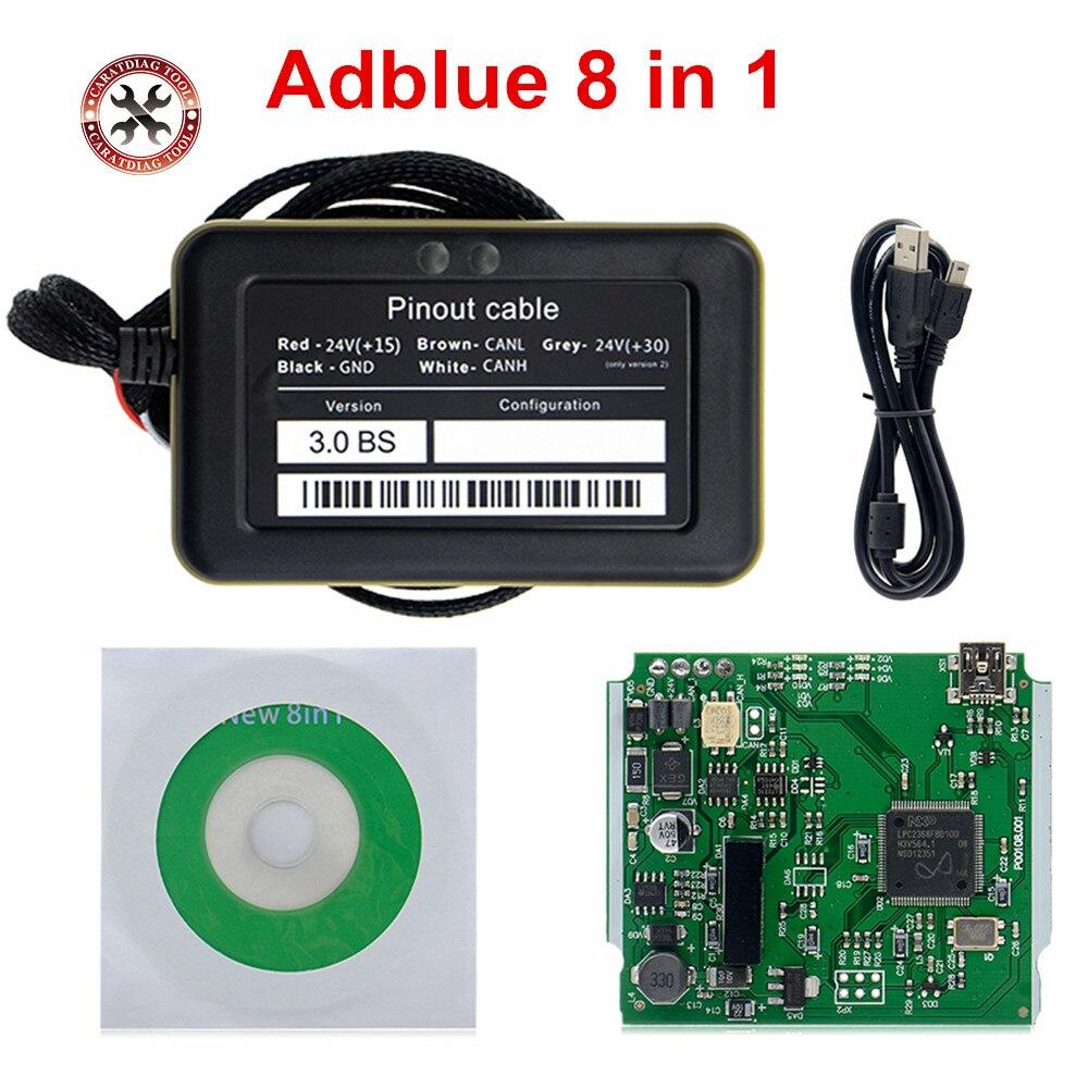 2021 новейший эмулятор Adblue для грузовика 8 в 1 с датчиком Nox эмулятор ADBLUE 8 в 1 инструмент для диагностики грузовика