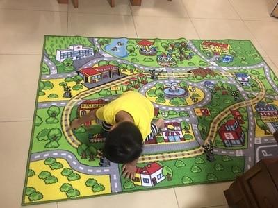 52x 74 Kids Rug with Non-Slip Backing Children Rug City Street Theme Kids Carpets Fun Rugs for Kids Children Floor Rug Carpet