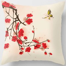 Hot sale many kinds of  Plum blossom fishes pattern women men Pillow case boys girls weeping pillow cover size 45*45cm