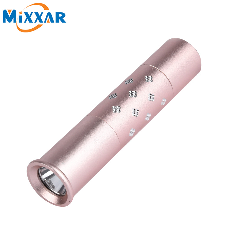 New Fashion Fluorescent agent Detect uv zibspuldzes LED lampas 365nm Rose Gold Krāsu lukturītim sejas maska ​​uv Lamp