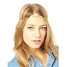 2017 Best Price 1PC Multilayer Chain Jewelry Headband Head Rhinestone Hair Band Headpiece Gold