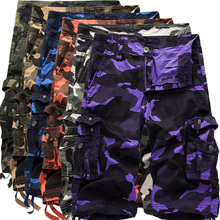 Summer Mens Camouflage Casual Shorts Cotton Military Tactical Cargo Shorts Army Hombre Soldier Combat Clothes Camo Short Pants women camo cargo trousers casual pants military army combat camouflage new