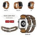Correa de piel genuina para apple watch banda única gira/doble Gira/Manguito Doble Gira Pulsera Para iwatch Series1 Series2