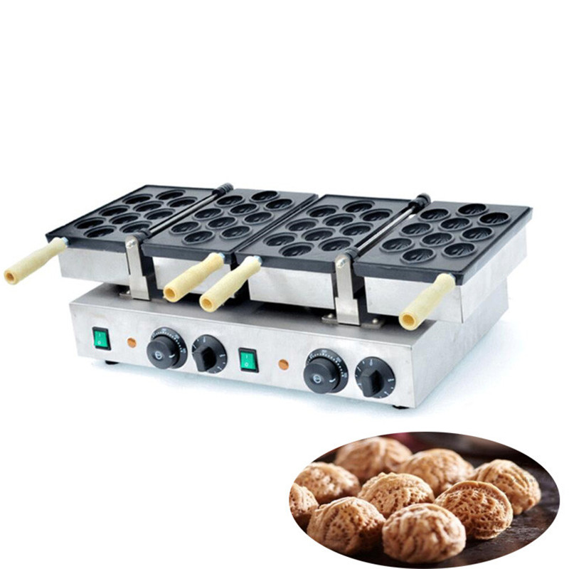 BEIJAMEI double plate electric walnut shape cake waffle maker commercial walnut shapes waffle stick cake making machine бра odeon light alvada 2911 3w
