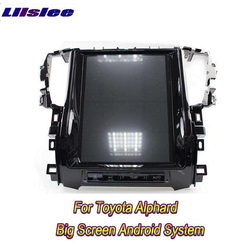 Liislee 2 din Android pour Toyota Alphard grand écran voiture lecteur multimédia GPS Navigation vidéo Radio Auto radio Carplay