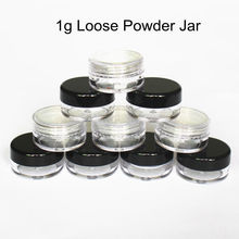 48pcs/Lot 1g/1ml Empty Loose Powder Container Plastic Cosmetic Jar Makeup Case with Sifter Puff Sample Container Cream Jar