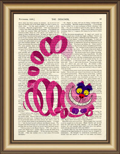 Alice In Wonderland Cheshire Cat Quote Dictionary Art Print Wall