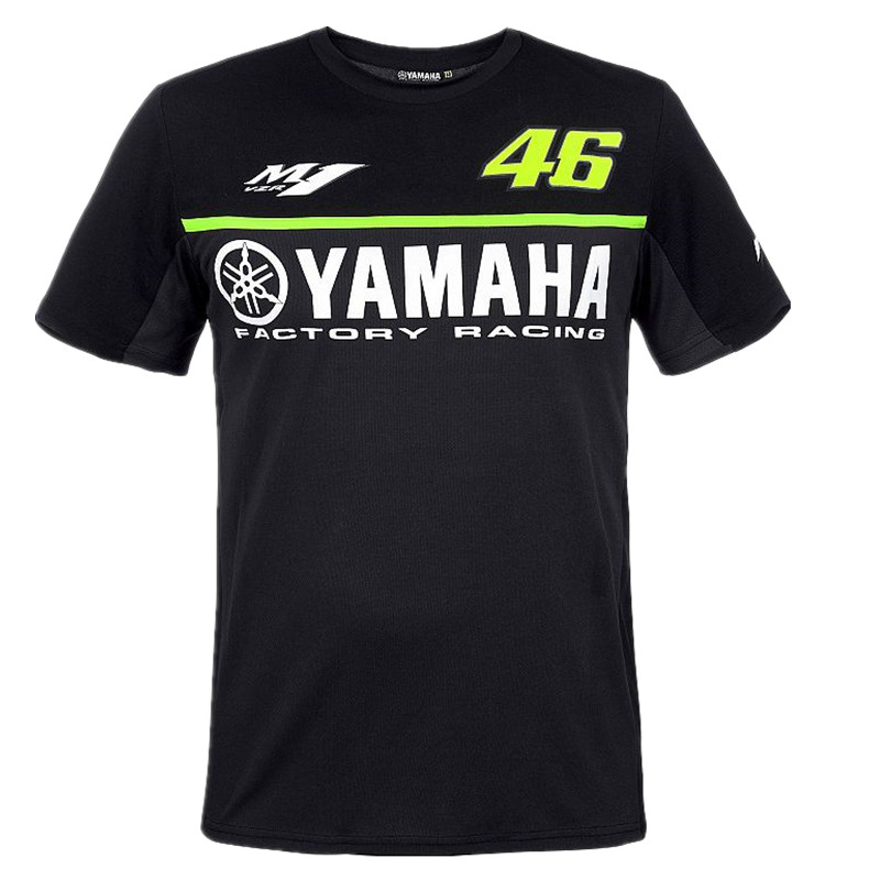 Motorcycle T-Shirt Cotton Moto GP 46 Leisure Tee t shirt Luna short sleeve for Valentino Rossi VR46 yamaha M1 racing team Fans