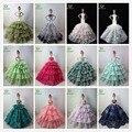 Não Contêm a Boneca! ucanaan 15 modelos fishtail casamento vestido de festa para boneca barbi limitada coleção elegante vestido feito à mão presente