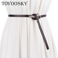 2018 Best Sale Women Top Designer Belts New Lady Woman For Dress Ceinture Femme Thin Belt with accessory TOYOOSKY