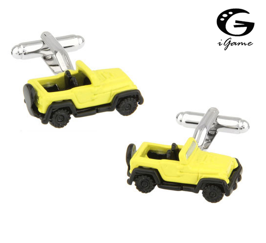 iGame SUV Car Cuff Links Quality Brass Material Yellow Painting Design Free Shipping